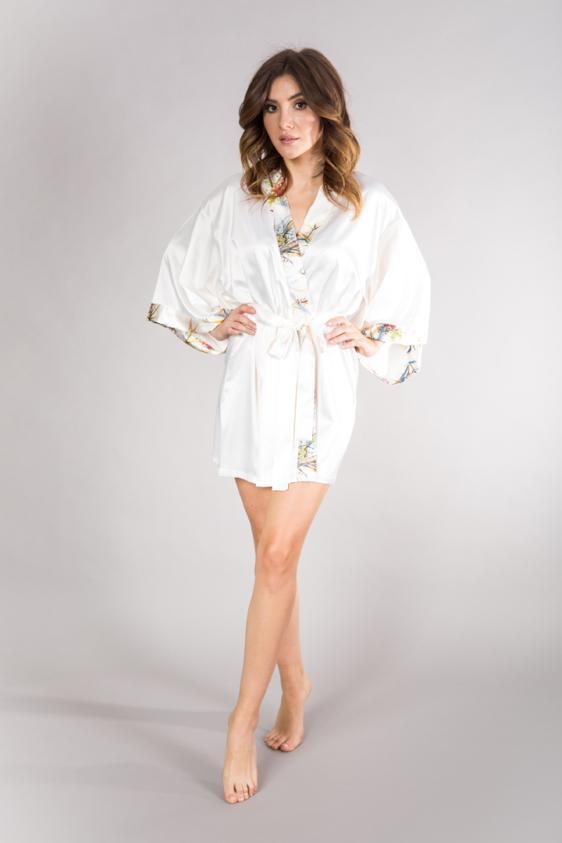 luksusowy szlafrok kimono
