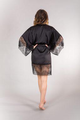 kimono czarna koronka