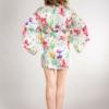 jedwabny szlafrok kimono w kwiaty