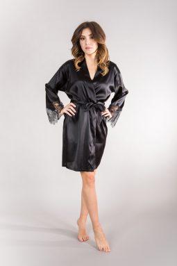 ekskluzywne czarne kimono