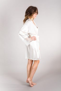 All White Silk Robe