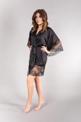 sexy black kimono