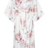 Długi szlafrok w piwonie - Peony Bride To Be Kimono Maxi No.4
