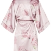 Szlafrok w piwonie - Peony Primrose Kimono Midi No.3