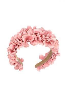 Opaska do włosów kwiatowa różowa