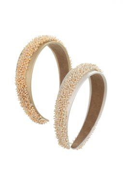Ślubna opaska do włosów z kryształami